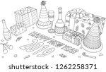 gift boxes  champagne bottles... | Shutterstock .eps vector #1262258371