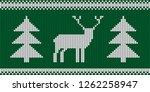 knitted pattern   retro... | Shutterstock .eps vector #1262258947