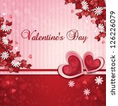 valentine's day card with... | Shutterstock .eps vector #126226079