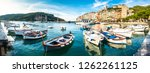 famous old town of portovenere in italy - stock photo