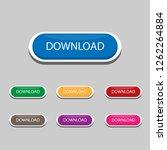 download button set  flat...   Shutterstock .eps vector #1262264884