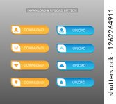 download and upload button set  ...