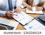 teamwork startup project... | Shutterstock . vector #1262266114