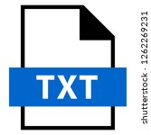 filename extension icon txt... | Shutterstock .eps vector #1262269231