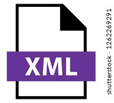 filename extension icon xml... | Shutterstock .eps vector #1262269291