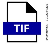 filename extension icon tif or...   Shutterstock .eps vector #1262269321