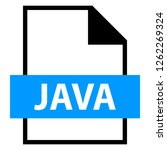 filename extension icon java... | Shutterstock .eps vector #1262269324