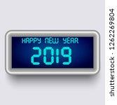 vector clock happy new year...   Shutterstock .eps vector #1262269804