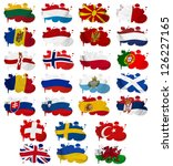 europe countries  from l to w ... | Shutterstock . vector #126227165
