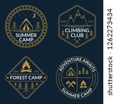 camp logo set. summer and... | Shutterstock . vector #1262273434