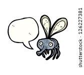 Cartoon Fly With Speech Bubble