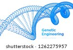 dna sequence. wireframe dna... | Shutterstock .eps vector #1262275957