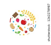 healthy organic snacks logo... | Shutterstock .eps vector #1262278987
