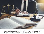 male lawyer or judge working... | Shutterstock . vector #1262281954