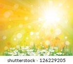 vector of sky background with... | Shutterstock .eps vector #126229205