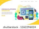 cross platform operation...   Shutterstock .eps vector #1262296024