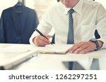cropped shot of businessman... | Shutterstock . vector #1262297251