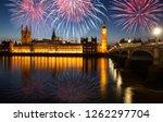 big ben with fireworks  ... | Shutterstock . vector #1262297704