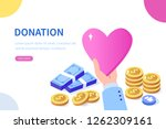 donation and charity concept.... | Shutterstock .eps vector #1262309161