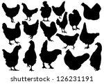 hen silhouettes