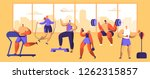 gym workout character set.... | Shutterstock .eps vector #1262315857