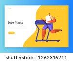 running fitness character... | Shutterstock .eps vector #1262316211