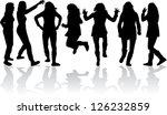 women silhouettes   Shutterstock .eps vector #126232859
