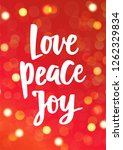 christmas card. love peace joy  ... | Shutterstock .eps vector #1262329834