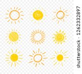 vector doodle sun  set of hand... | Shutterstock .eps vector #1262332897