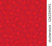 pattern st. valentine's day... | Shutterstock .eps vector #1262334391