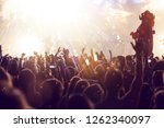 new year concept   fireworks... | Shutterstock . vector #1262340097
