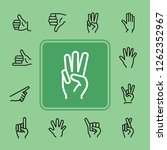 gestures line icon set. like ... | Shutterstock .eps vector #1262352967