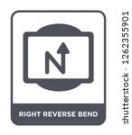 right reverse bend icon vector... | Shutterstock .eps vector #1262355901