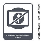 straight prohibitor no entry...   Shutterstock .eps vector #1262356021