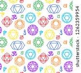 chakras seamless pattern.... | Shutterstock .eps vector #1262359954