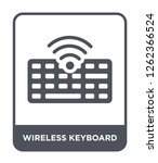 wireless keyboard icon vector...   Shutterstock .eps vector #1262366524
