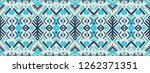 ikat geometric folklore... | Shutterstock .eps vector #1262371351