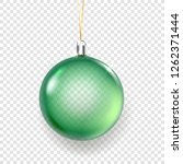 shining glass green christmas... | Shutterstock .eps vector #1262371444
