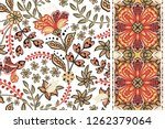 set of floral seamless... | Shutterstock .eps vector #1262379064