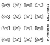 bowtie icon set. outline set of ... | Shutterstock .eps vector #1262390581