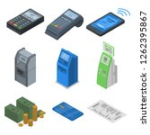 bank terminal icon set.... | Shutterstock .eps vector #1262395867