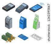 bank card reader icon set.... | Shutterstock .eps vector #1262395867