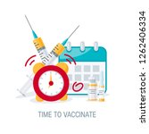 time to vaccinate concept.... | Shutterstock .eps vector #1262406334