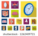 furniture and interior flat... | Shutterstock .eps vector #1262409721