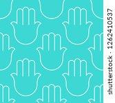 hamsa  seamless pattern.... | Shutterstock .eps vector #1262410537