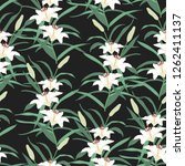 blossom floral seamless pattern.... | Shutterstock .eps vector #1262411137