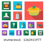 kitchen equipment flat icons in ... | Shutterstock .eps vector #1262411977