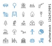 park icons set. collection of... | Shutterstock .eps vector #1262419891