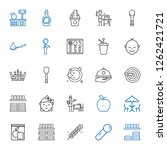 spoon icons set. collection of... | Shutterstock .eps vector #1262421721