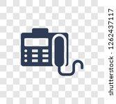 fax machine icon. trendy fax... | Shutterstock .eps vector #1262437117